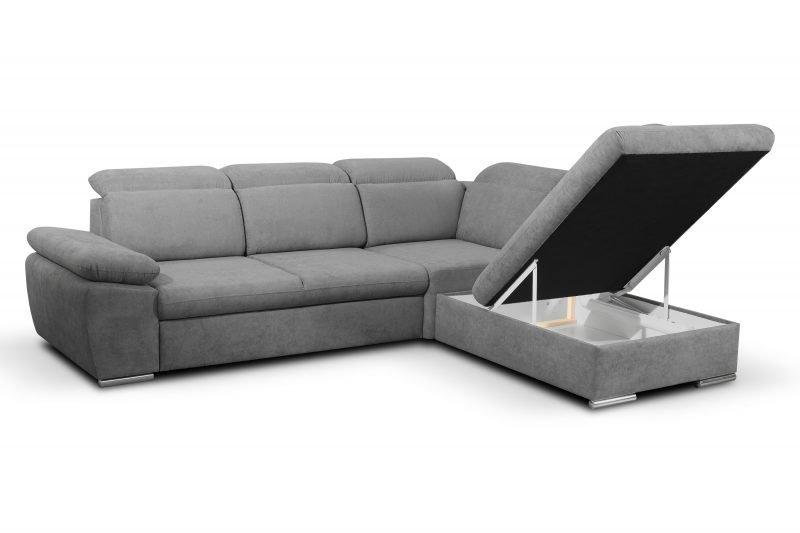 Salon Canape Design Convertible Bruxelles Aldo grey storage